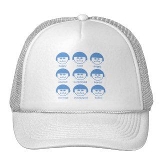Botox SkyBlue Print Cap Trucker Hat