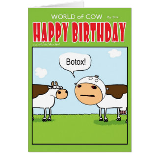 Botox Tarjeta De Felicitación