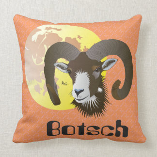 Botsch 21 Mars fin 20 avrigl Plumatsch Throw Pillow