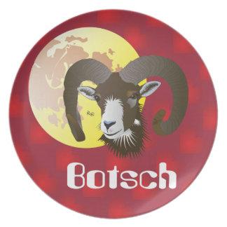 Botsch 21 Mars fin 20 avrigl Taglier - Plat Dinner Plate