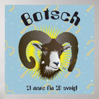 Botsch 21 mars fin 20 Placat avrigl Póster