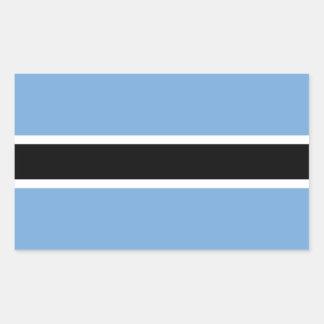 Botswana Adhesive Flag Rectangular Sticker