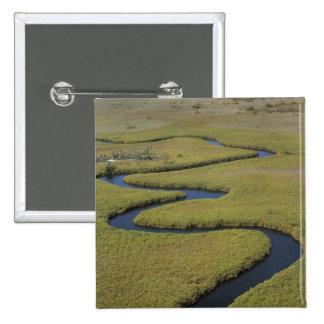 Botswana, Africa. Arial view Okavango river. Button
