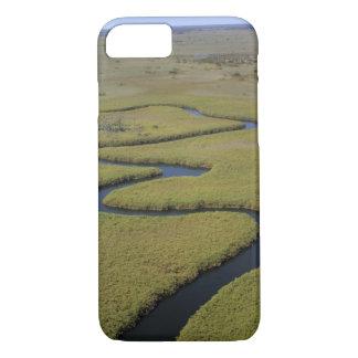 Botswana, Africa. Arial view Okavango river. iPhone 7 Case