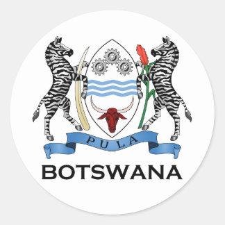 BOTSWANA - bandera/emblema/escudo de armas/símbolo Pegatina Redonda