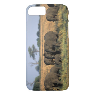 Botswana, Chobe National Park, Elephant herd iPhone 7 Case