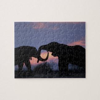 Botswana, Chobe National Park, Elephants Puzzle
