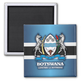 Botswana COA 2 2 Inch Square Magnet