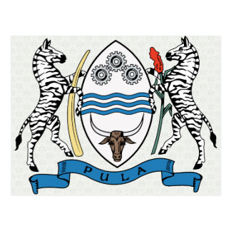 Botswana Coat of Arms detail Postcards
