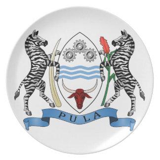 Botswana Coat Of Arms Dinner Plate