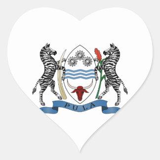 Botswana Coat of Arms Heart Sticker