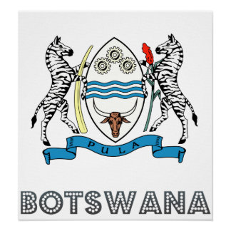 Botswana Coat of Arms Posters