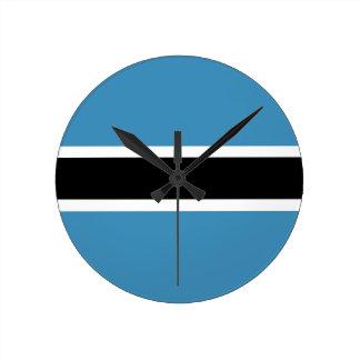 botswana country flag clock