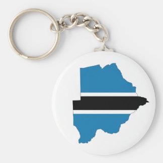 botswana country flag map shape silhouette symbol keychain