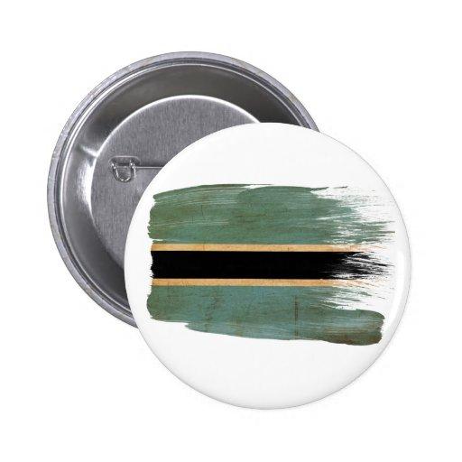 Botswana Flag Pinback Buttons