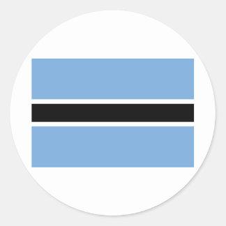 Botswana Flag BW Classic Round Sticker