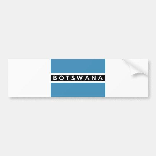 Botswana flag country schweiz text name bumper sticker