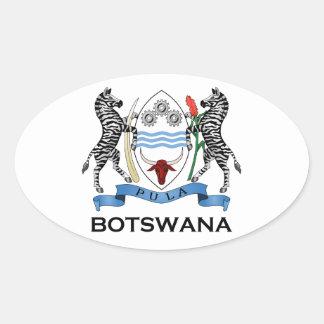 BOTSWANA - flag/emblem/coat of arms/symbol Oval Sticker