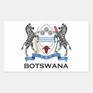BOTSWANA - flag/emblem/coat of arms/symbol Rectangular Sticker