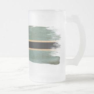 Botswana Flag Frosted Glass Beer Mug