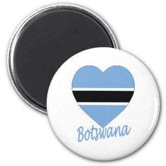 Botswana Flag Heart Refrigerator Magnet