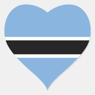 Botswana Flag Heart Sticker