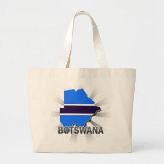 Botswana Flag Map 2.0 Tote Bag
