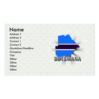 Botswana Flag Map 2.0 Business Cards