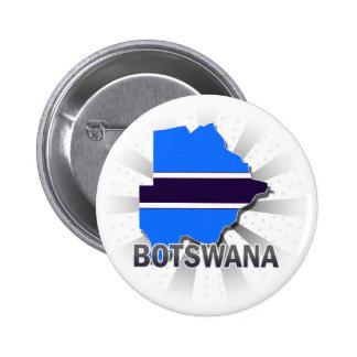 Botswana Flag Map 2 0 Pinback Buttons