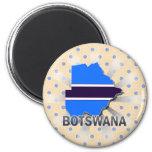 Botswana Flag Map 2.0 Fridge Magnets