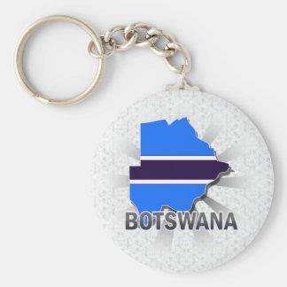 Botswana Flag Map 2.0 Key Chains