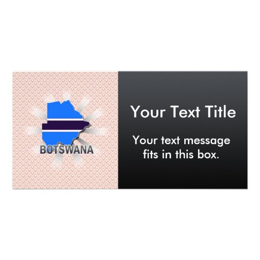 Botswana Flag Map 2.0 Photo Card Template