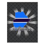 Botswana Flag Map 2.0 Post Cards