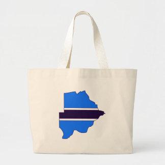 Botswana flag map canvas bags