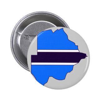 Botswana flag map pin
