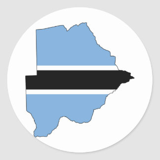 Botswana Flag map BW Classic Round Sticker