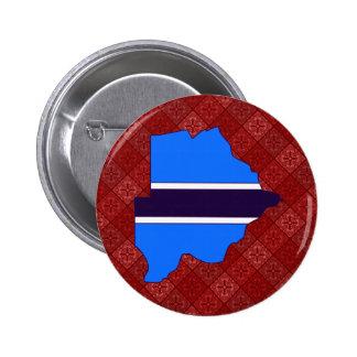Botswana Flag Map full size Button