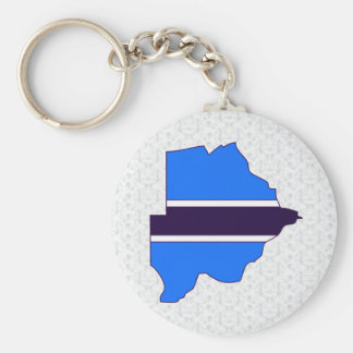 Botswana Flag Map full size Key Chains