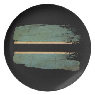 Botswana Flag Melamine Plate