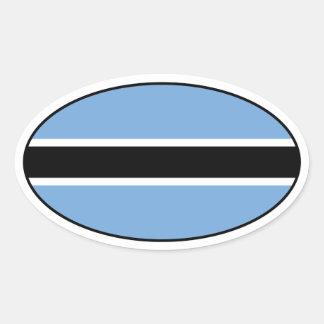 Botswana Flag Oval Sticker