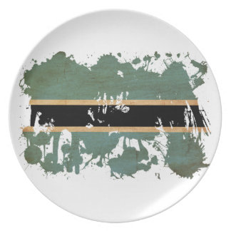 Botswana Flag Plate