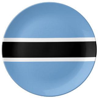 Botswana Flag Porcelain Plate