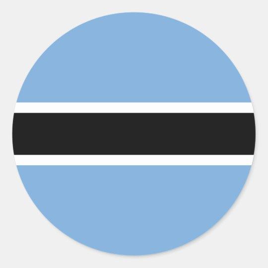 Botswana flag round stickers