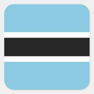 Botswana Flag Square Sticker