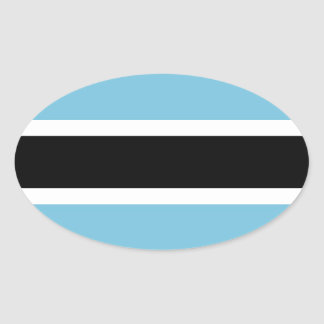 Botswana Flag Oval Stickers