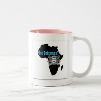 Botswana Flag T-Shirt & Etc Two-Tone Coffee Mug