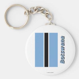 Botswana Flag with Name Keychain