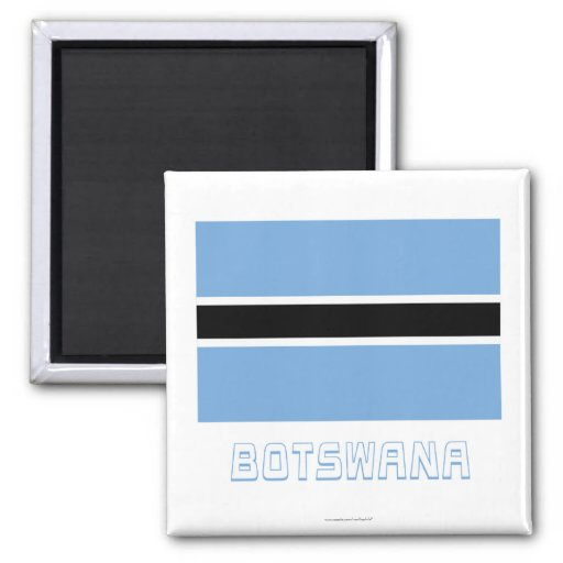 Botswana Flag with Name Refrigerator Magnet