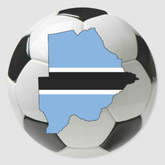 Botswana football soccer classic round sticker
