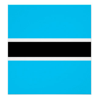 Botswana High quality Flag Posters
